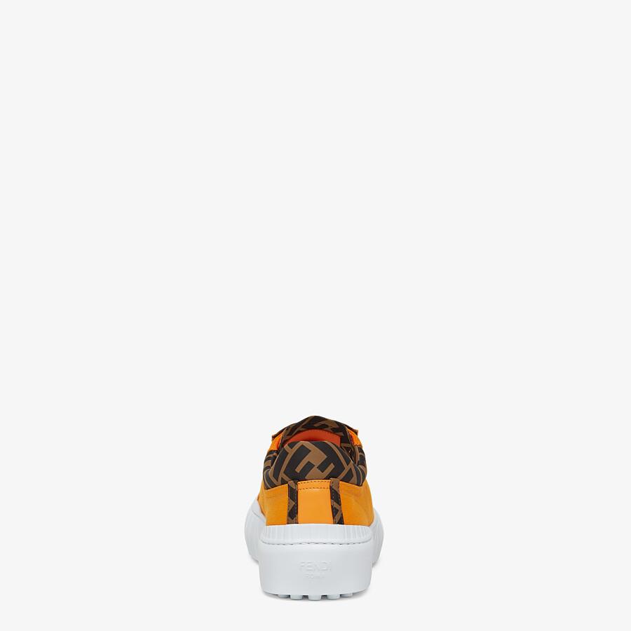 FENDI SNEAKER - Low-Top aus Canvas in Orange - view 3 detail