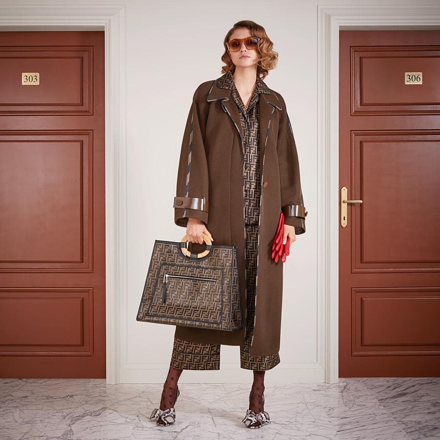 FENDI RUNAWAY SHOPPER - Multicolor leather shopper - view 2 detail