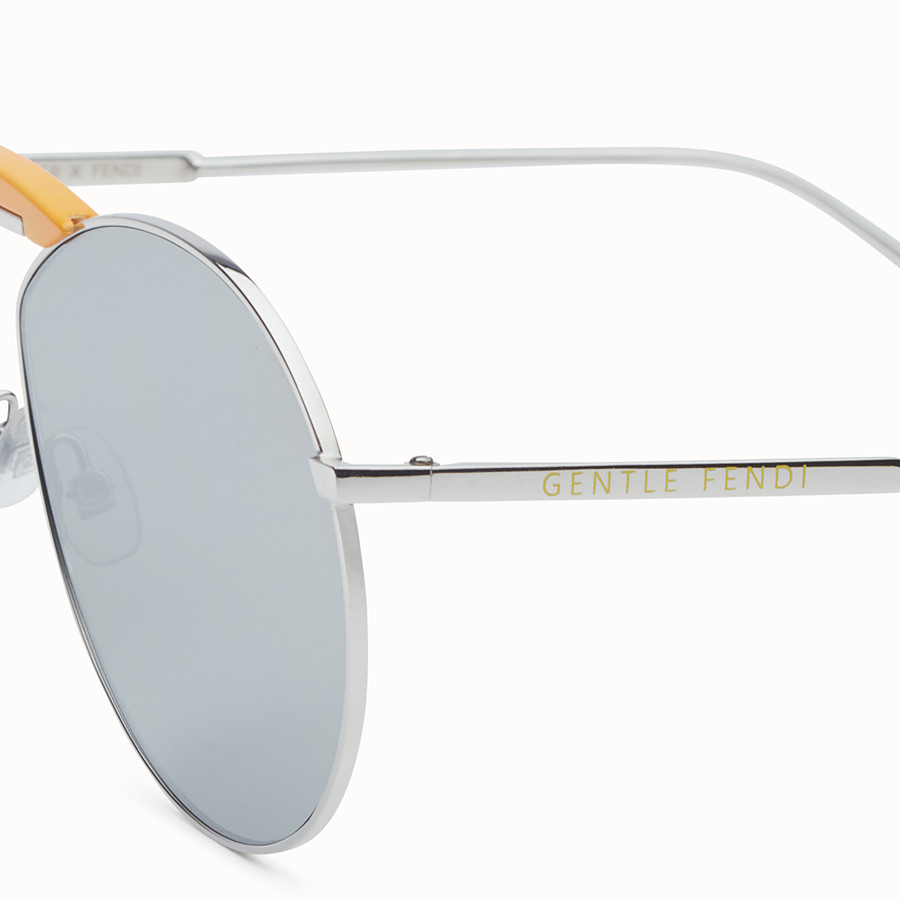 FENDI SUNGLASSES - Palladium-coloured sunglasses - view 3 detail