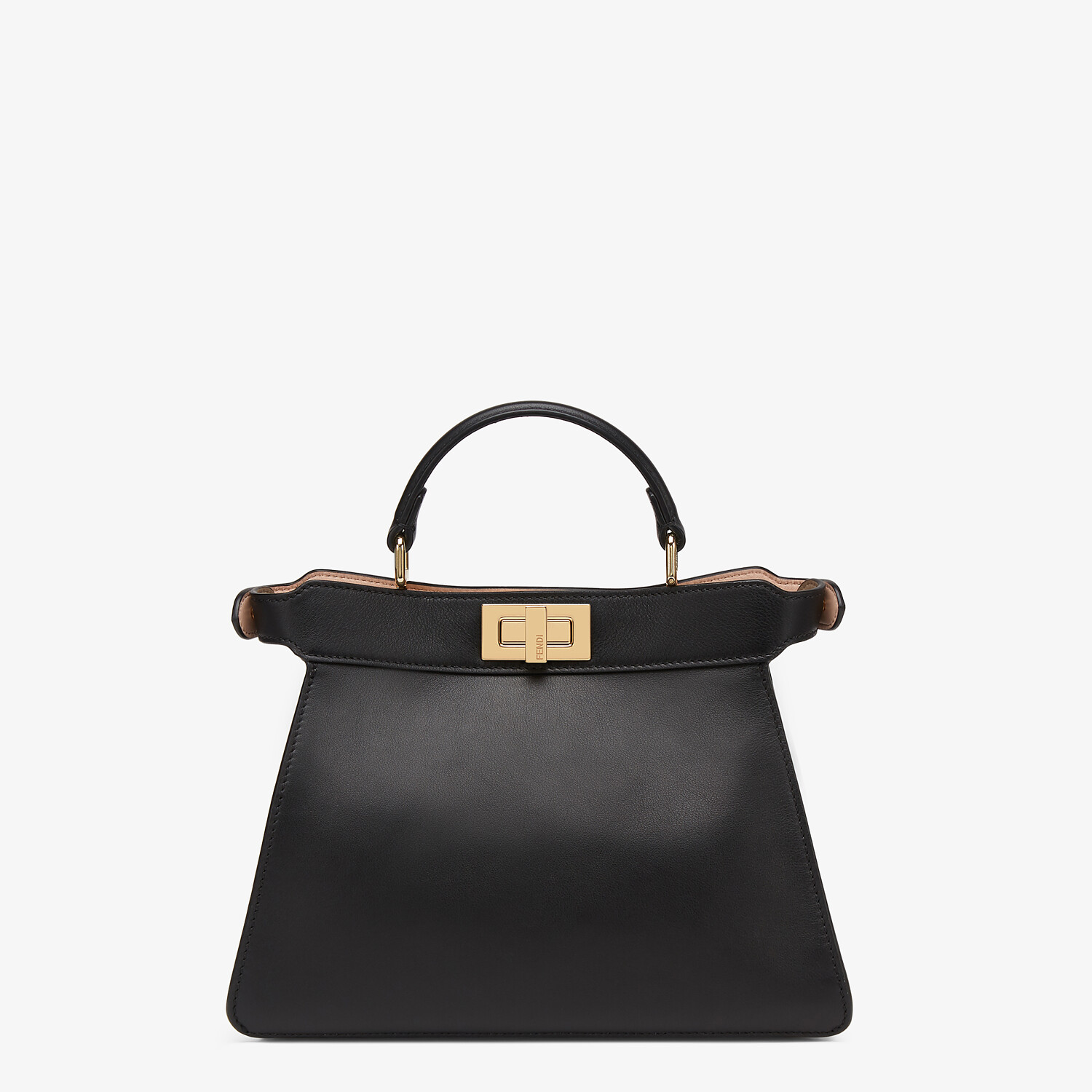 FENDI PEEKABOO ISEEU SMALL - Black leather bag - view 4 detail