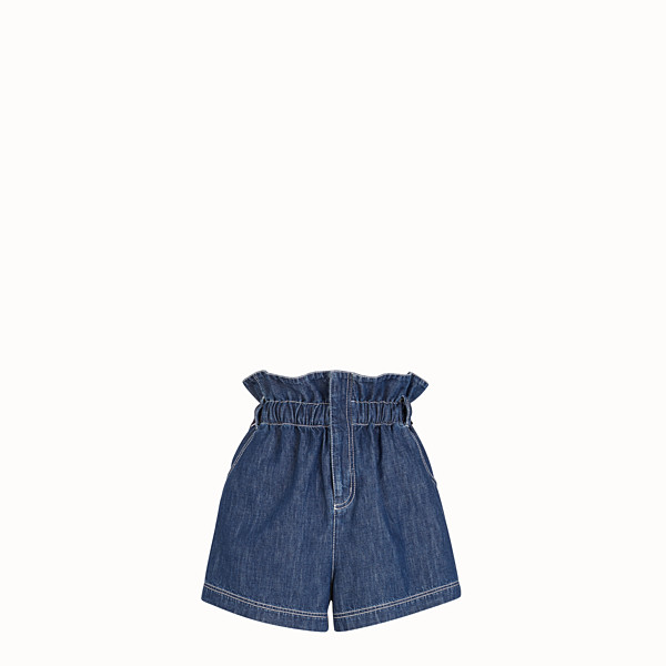 FENDI BERMUDAS - Blue cotton Bermudas - view 1 small thumbnail