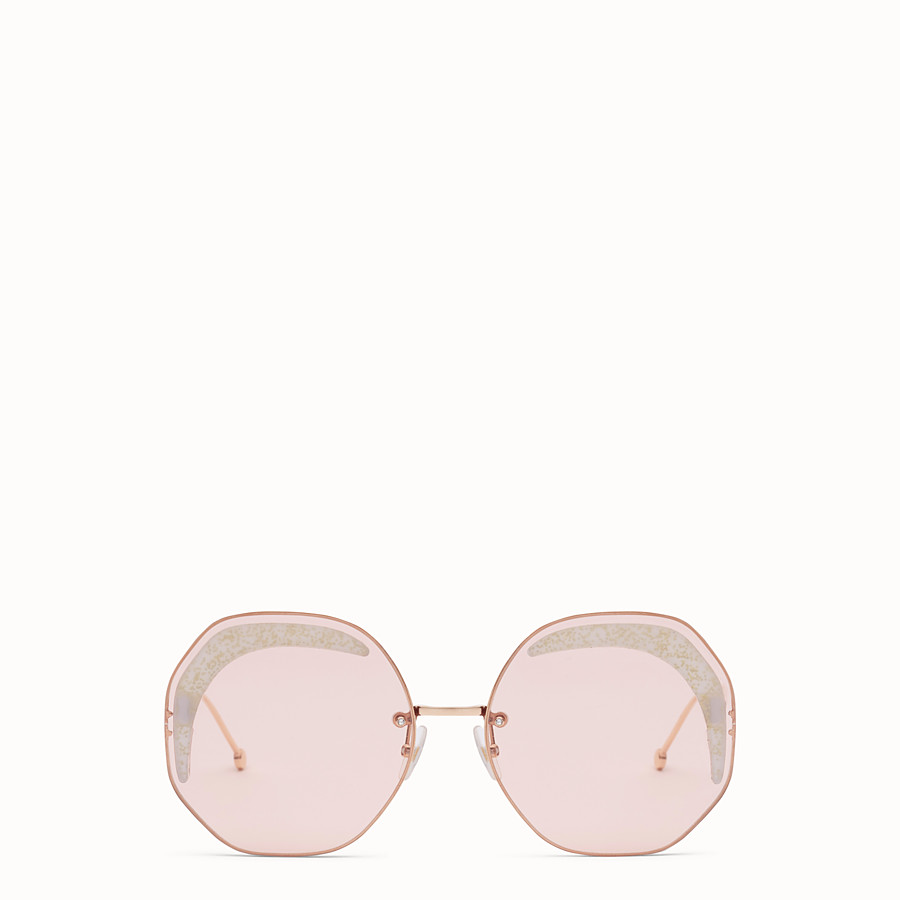 FENDI FENDI GLASS - Copper-coloured sunglasses - view 1 detail