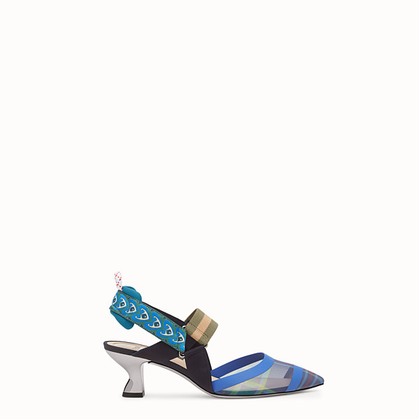 FENDI SLINGBACKS - Multicolour technical mesh slingbacks - view 1 small thumbnail