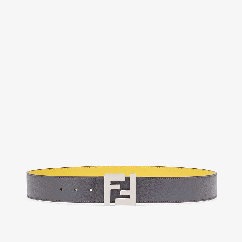 FENDI BELT - Grey leather belt - view 1 detail