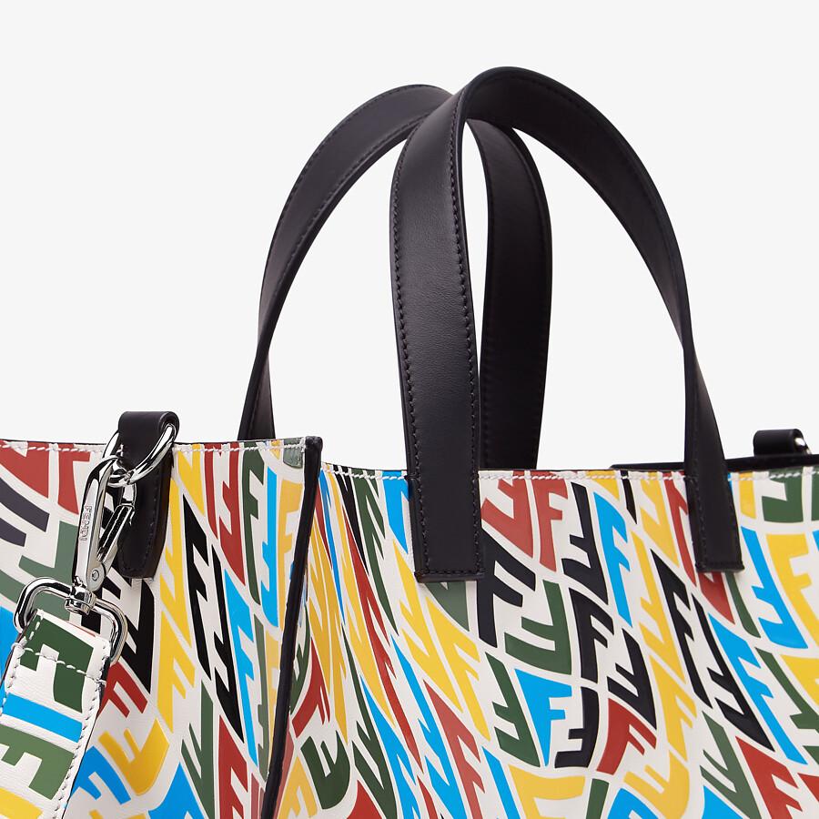 FENDI SHOPPER - Multicolour FF Vertigo leather bag - view 5 detail