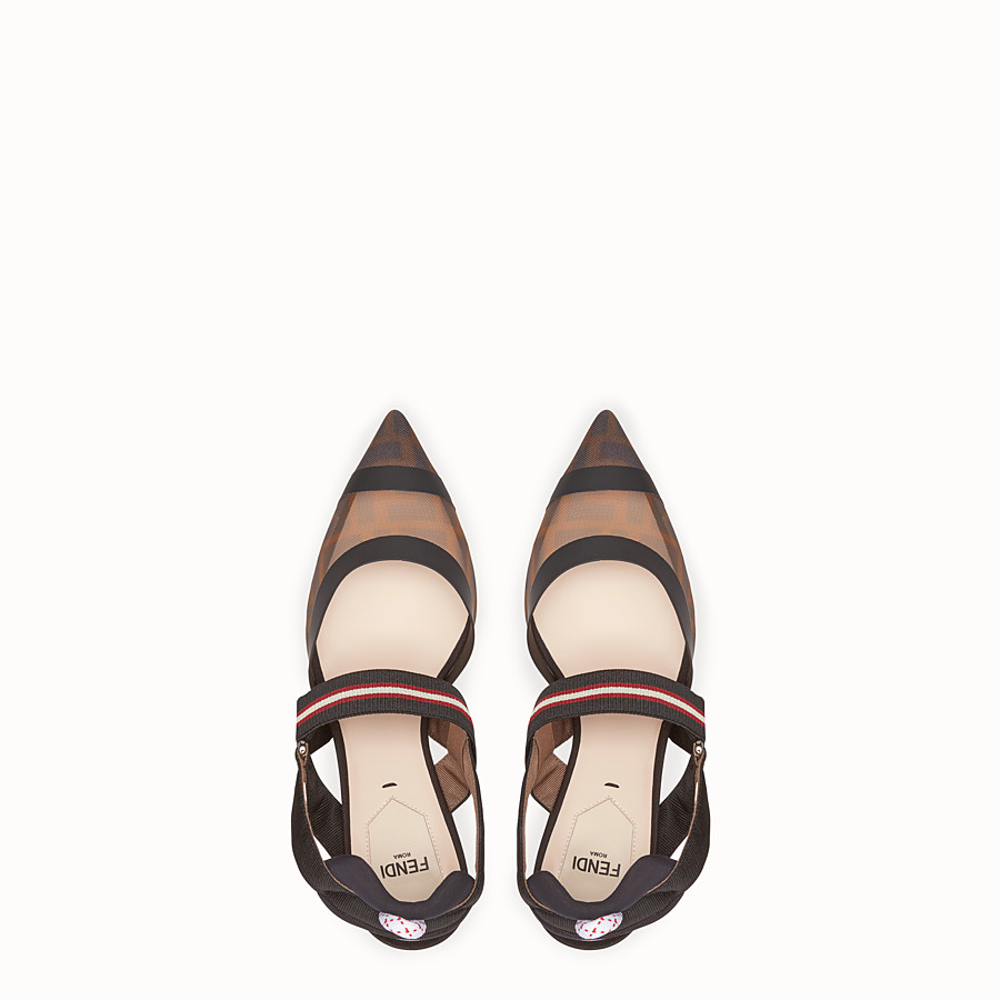 FENDI SLINGBACKS - Multicolor Colibrì in technical-mesh - view 4 detail