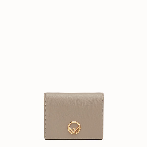 FENDI BIFOLD - Beige compact leather wallet - view 1 small thumbnail