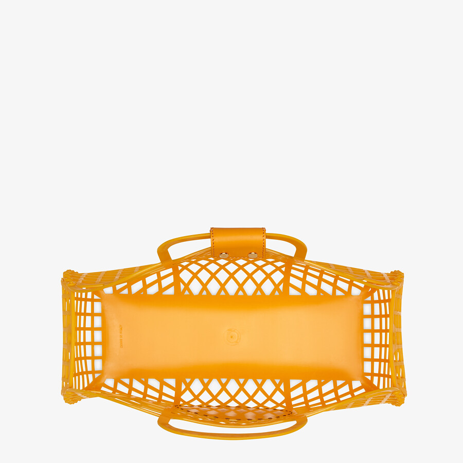 FENDI FENDI BASKET MEDIUM - Orange recycled plastic mini-bag - view 5 detail