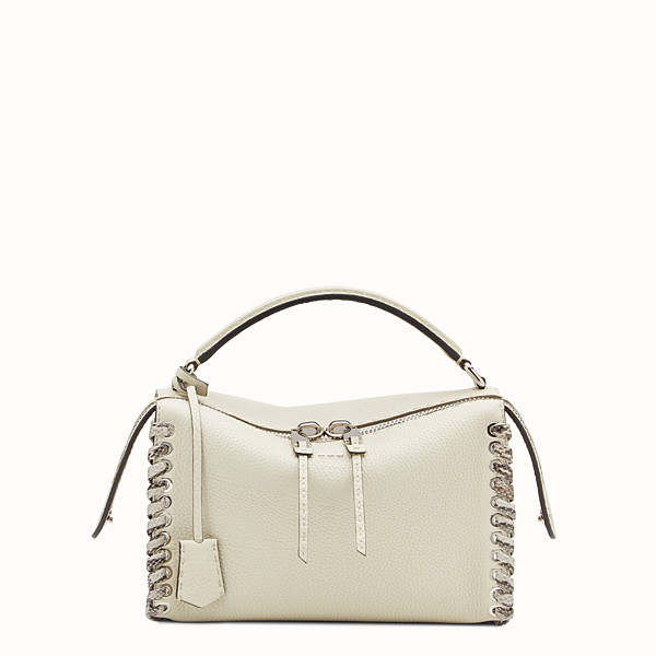 FENDI LEI BAG - White and rock Selleria Boston bag - view 1 small thumbnail