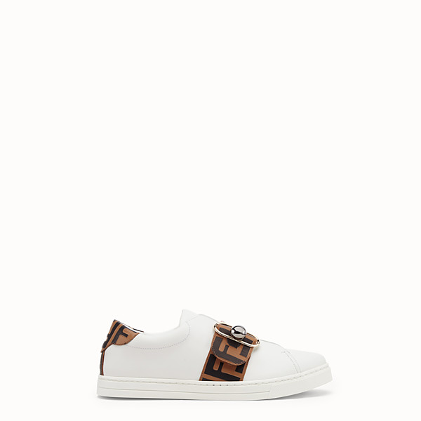 FENDI SNEAKERS - Sneakers en cuir blanc - view 1 small thumbnail