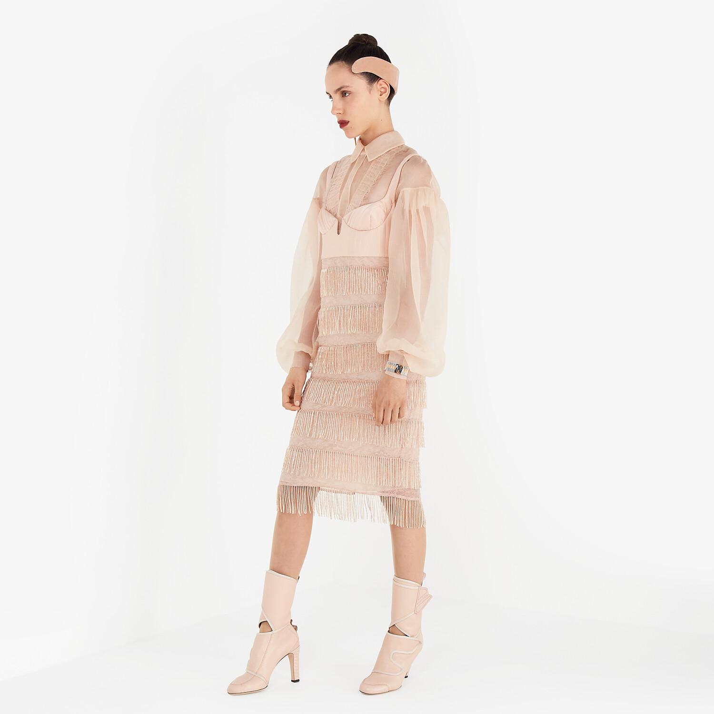 FENDI DRESS - Pink silk and lace dress - view 4 detail