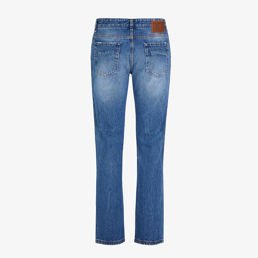 FENDI DENIM - Blue denim jeans - view 2 detail