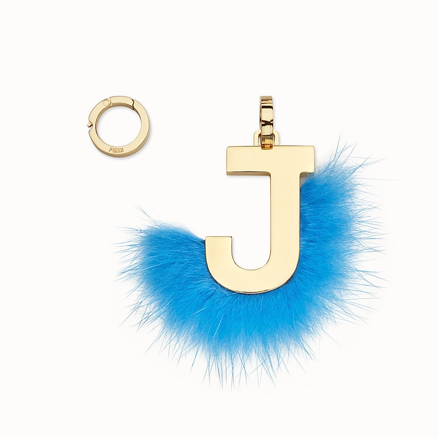 FENDI ABCLICK J - Pendant with fluorescent light blue fur - view 1 detail