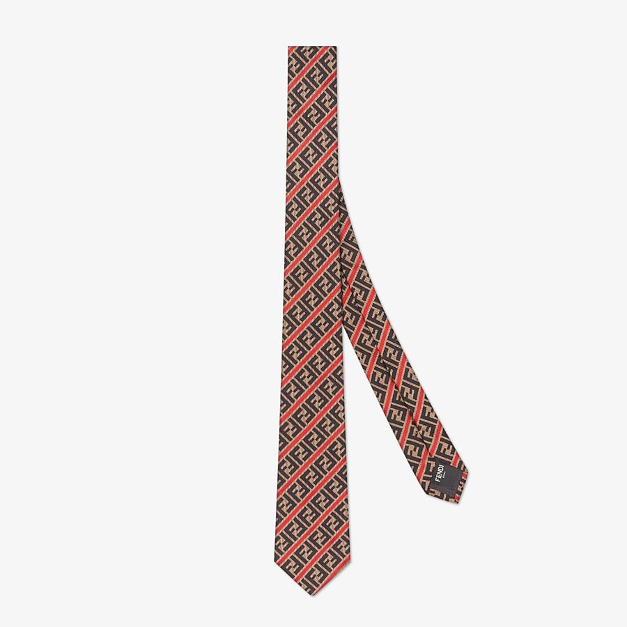 FENDI TIE - Silk tie. Width 6.5cm - 2.6 inches - view 1 detail