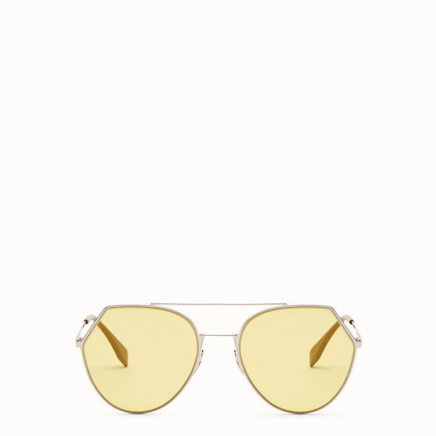 FENDI EYELINE - Silver-colour sunglasses - view 1 detail