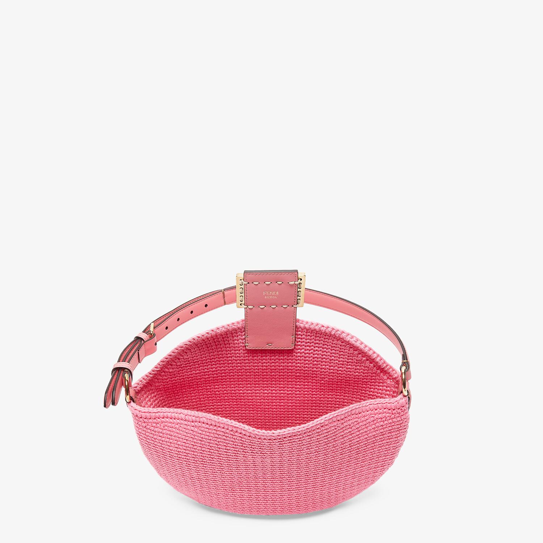 FENDI SMALL CROISSANT - Pink cotton bag - view 4 detail