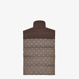FENDI GILET - Brown jacquard fabric gilet - view 2 thumbnail