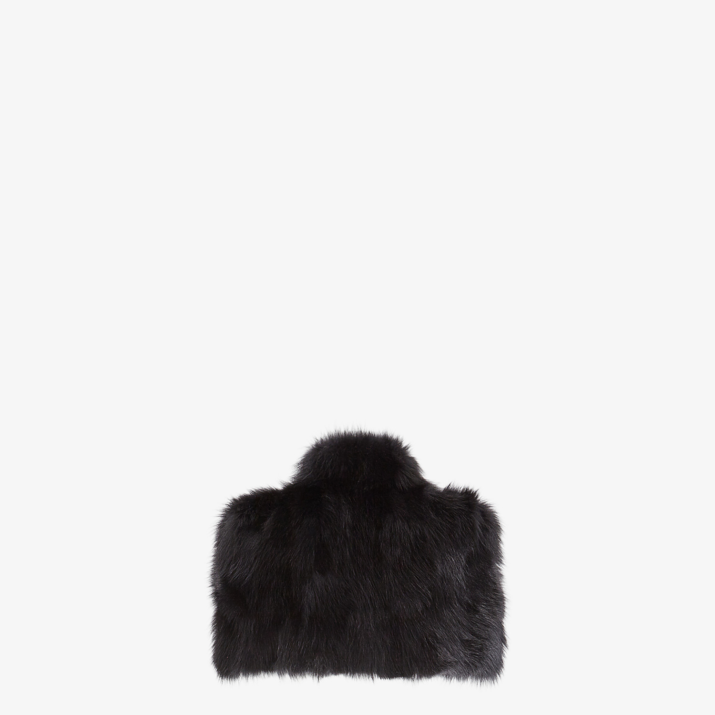 FENDI CAPE - Black fur cape - view 2 detail