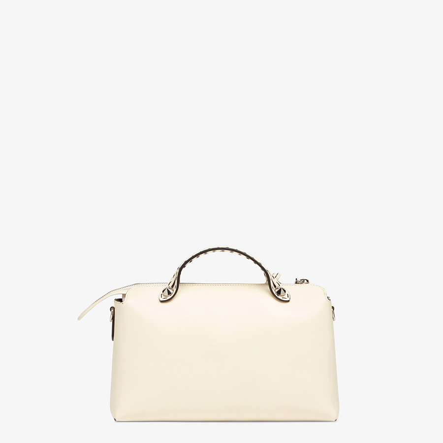 FENDI BY THE WAY MEDIUM - White leather Boston bag - view 4 detail