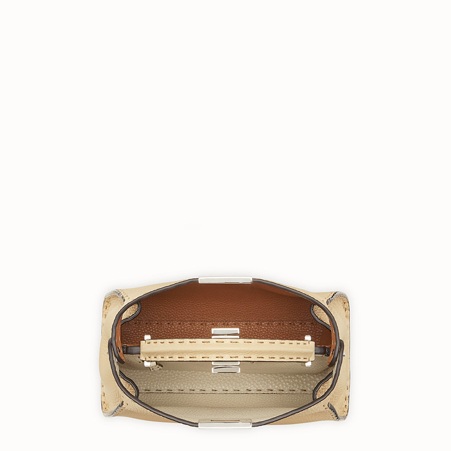 FENDI PEEKABOO ICONIC ESSENTIALLY - Beige leather bag - view 5 detail