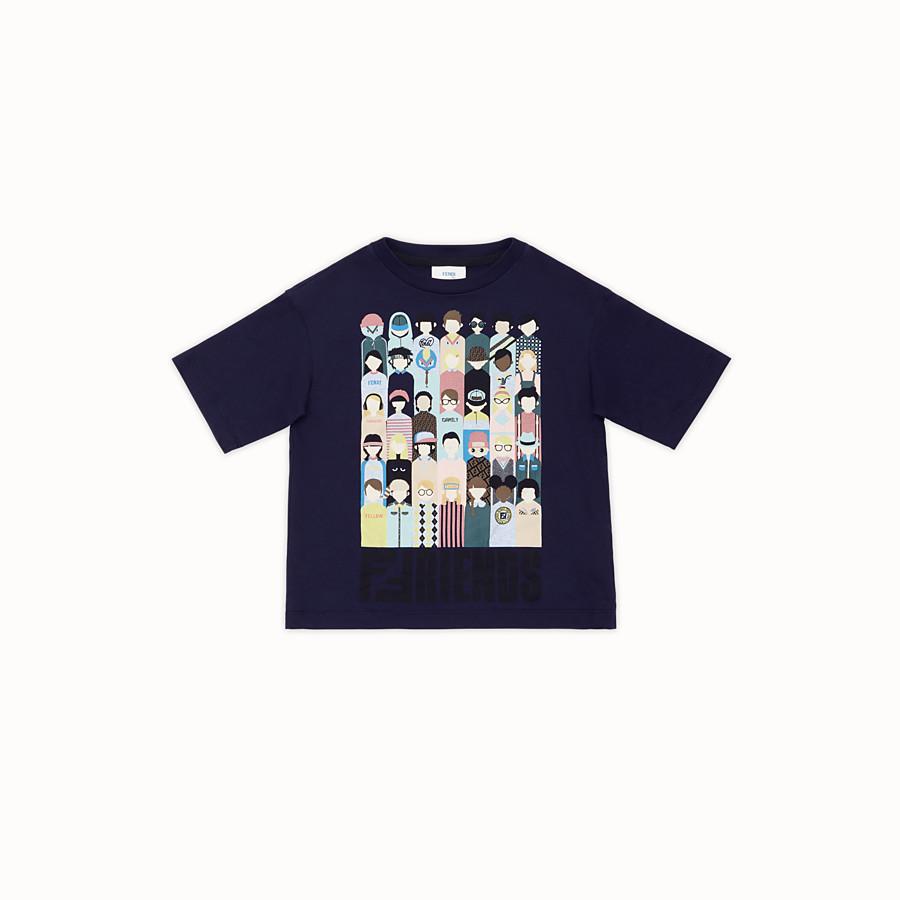 FENDI T-SHIRT - T-Shirt aus Baumwolle in Blau - view 1 detail