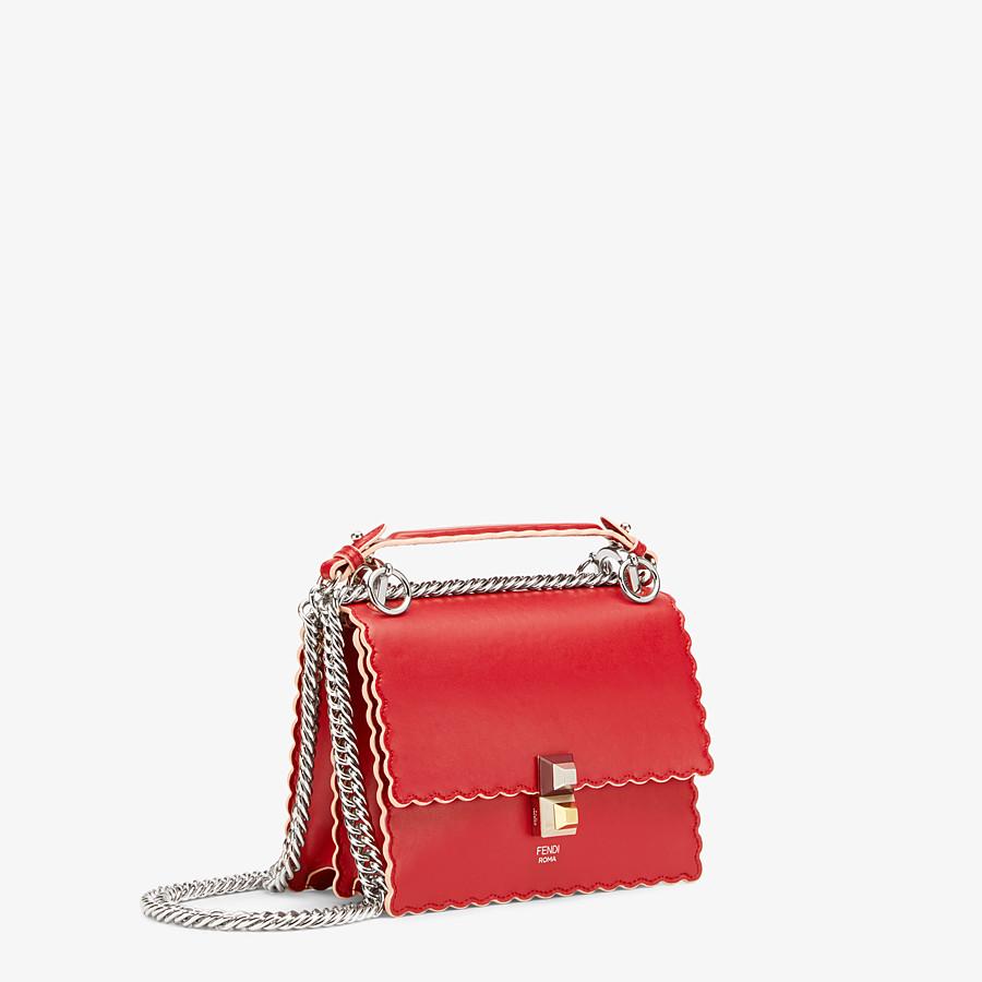 FENDI KAN I SMALL - Red leather mini-bag - view 2 detail