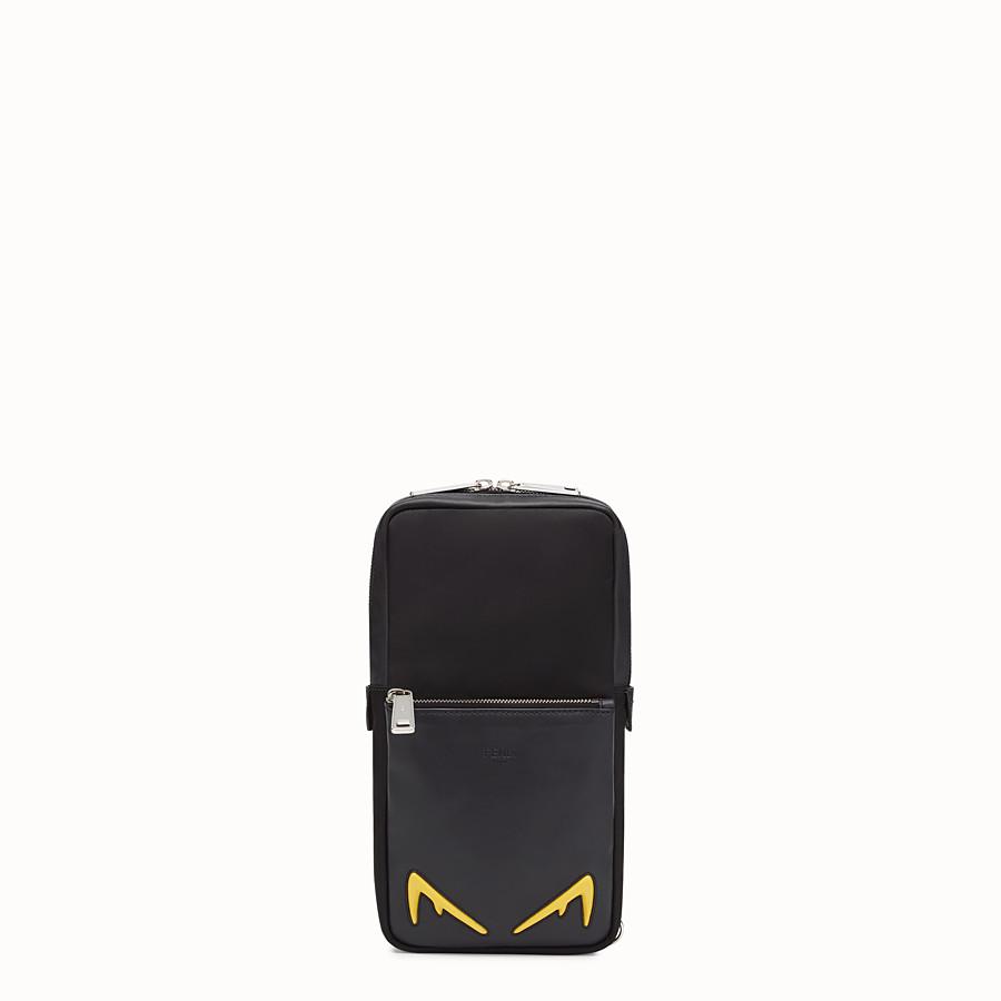 FENDI BELT BAG - One-shoulder backpack in black leather and nylon - view 1 detail
