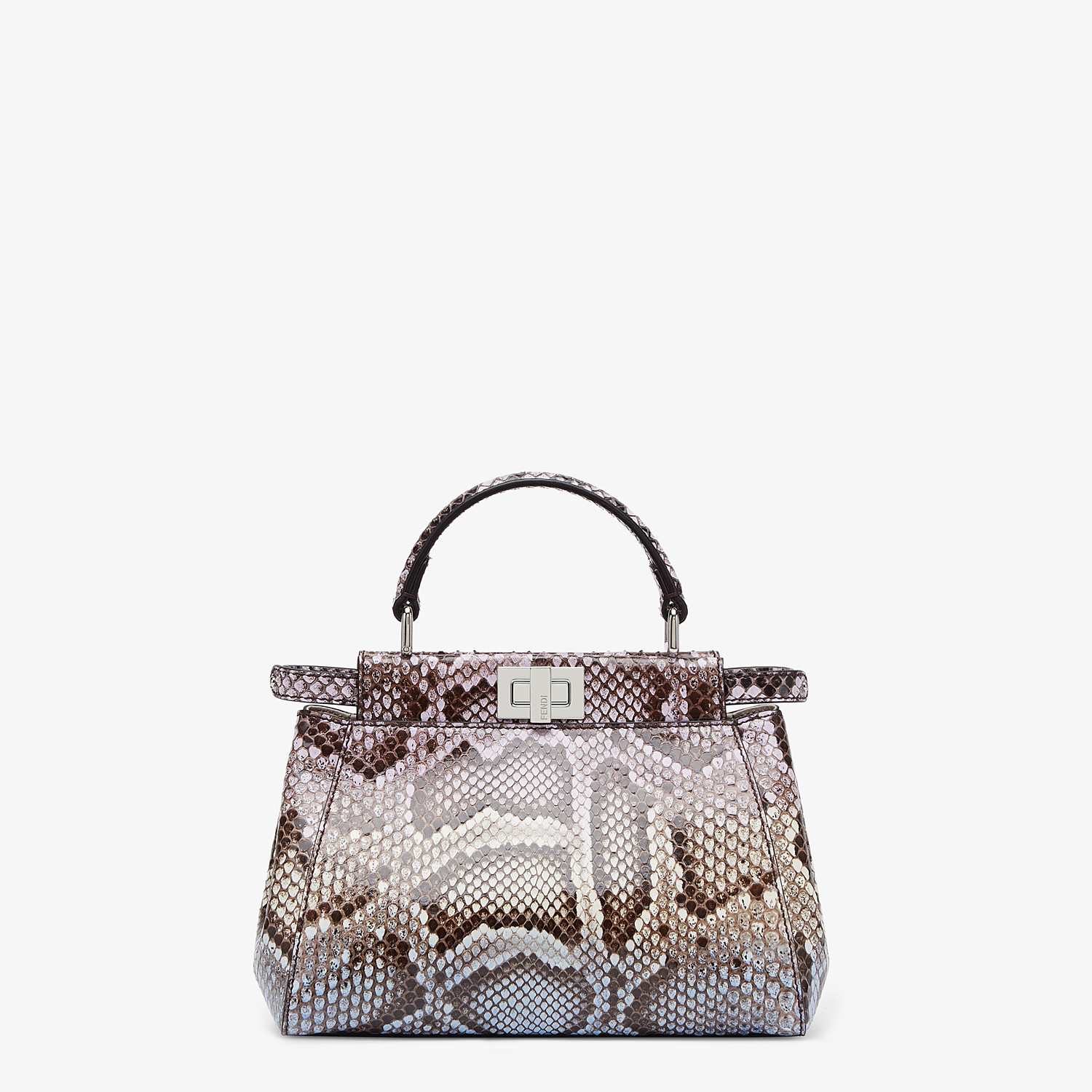 FENDI PEEKABOO ICONIC MINI - Python leather bag with graduated colors - view 1 detail