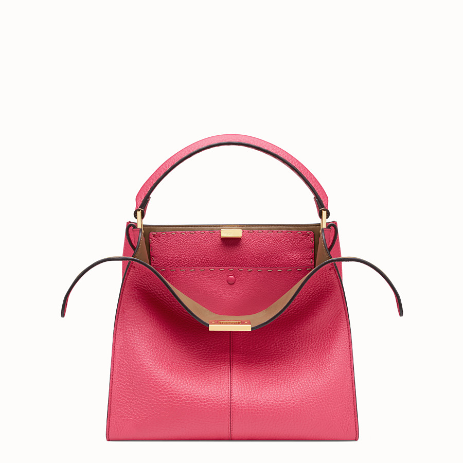 FENDI PEEKABOO X-LITE REGULAR - Fendi Roma Amor leather bag - view 1 detail