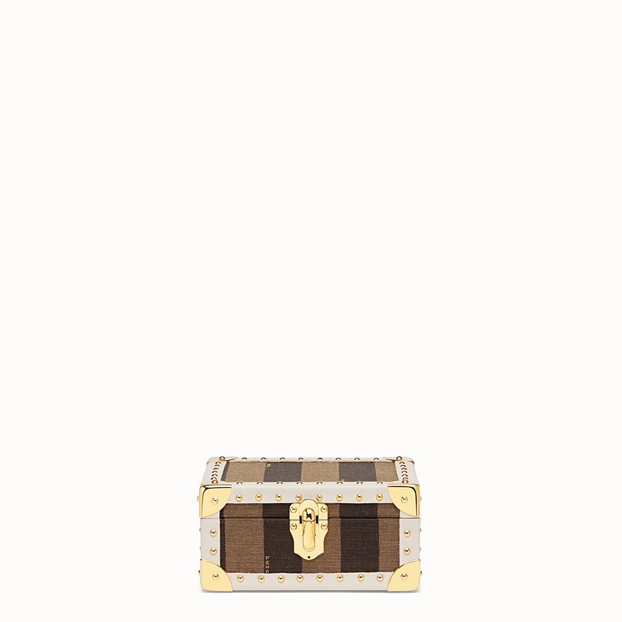 FENDI TRAVEL CASE SMALL - Travel case in brown jacquard - view 1 detail