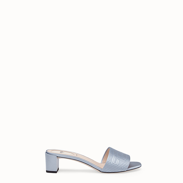 FENDI SABOTS - Grey satin sandals - view 1 small thumbnail