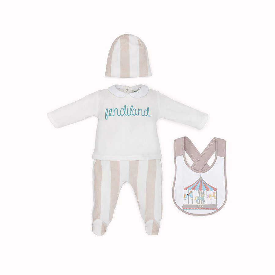 FENDI BABY KIT - Beige and ivory cotton and chenille kit - view 1 detail