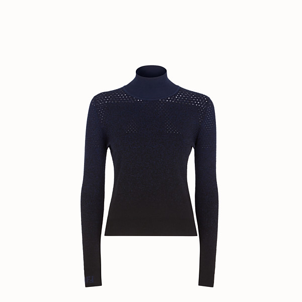 FENDI JUMPER - Black wool jumper - view 1 small thumbnail