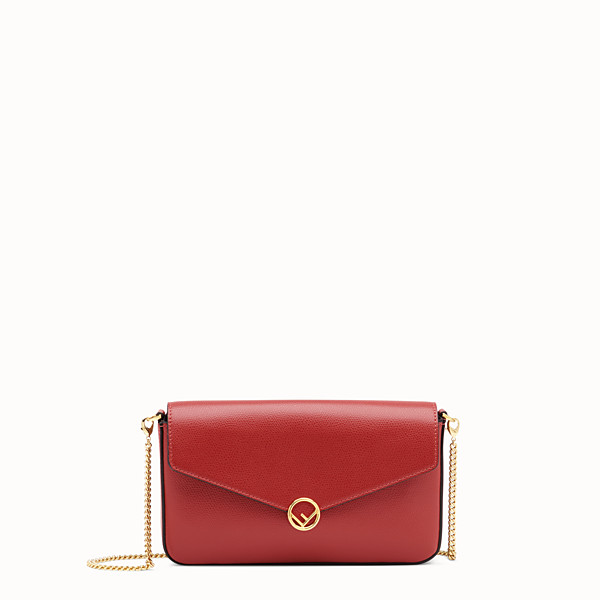 FENDI WALLET ON CHAIN WITH POUCHES - Red leather mini-bag - view 1 small thumbnail