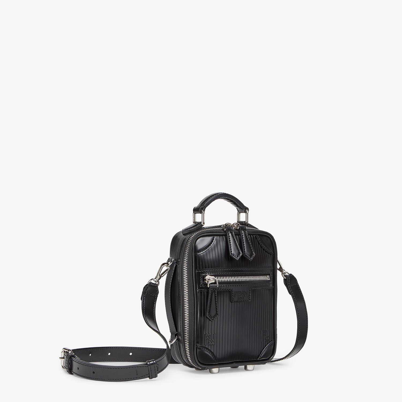 FENDI TRAVEL MINI BAG - Black leather bag - view 2 detail