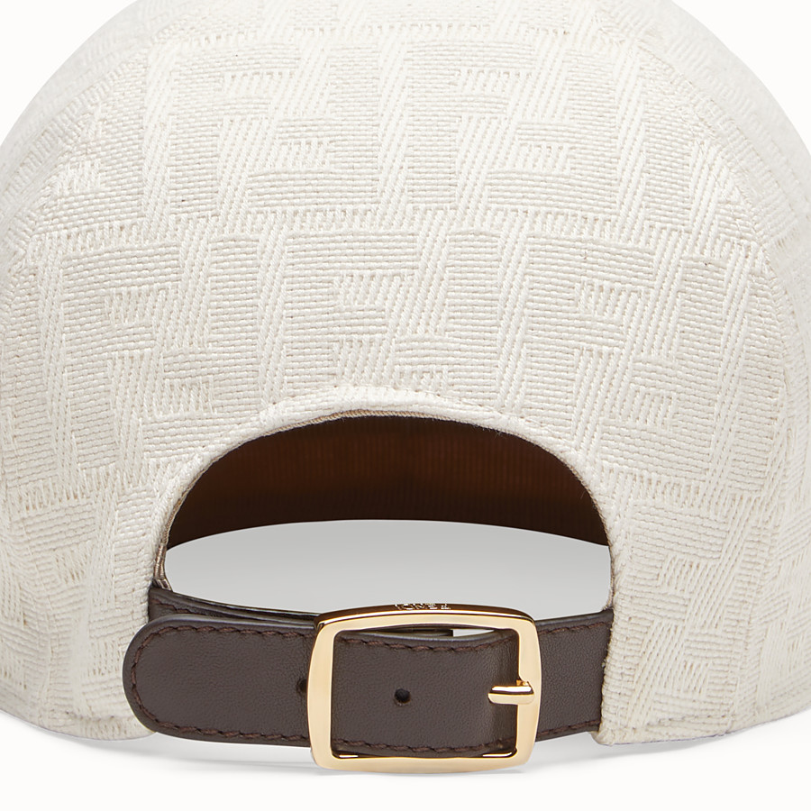 FENDI HAT - White canvas baseball cap - view 2 detail