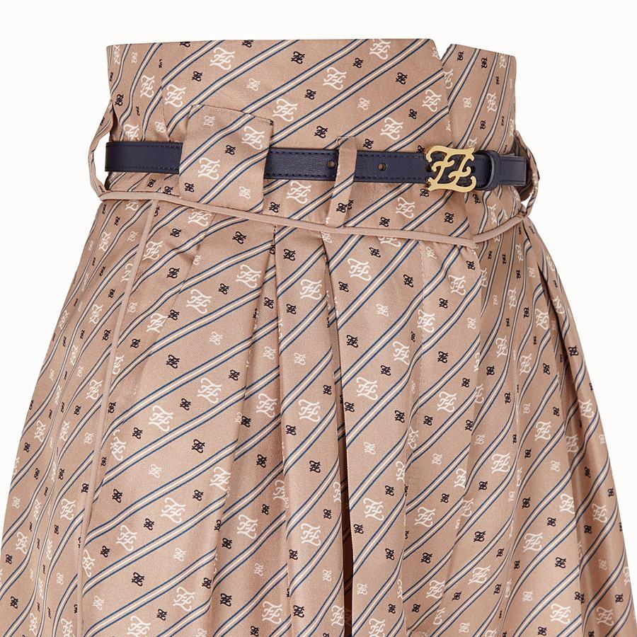 FENDI TROUSERS - Beige silk trousers - view 3 detail
