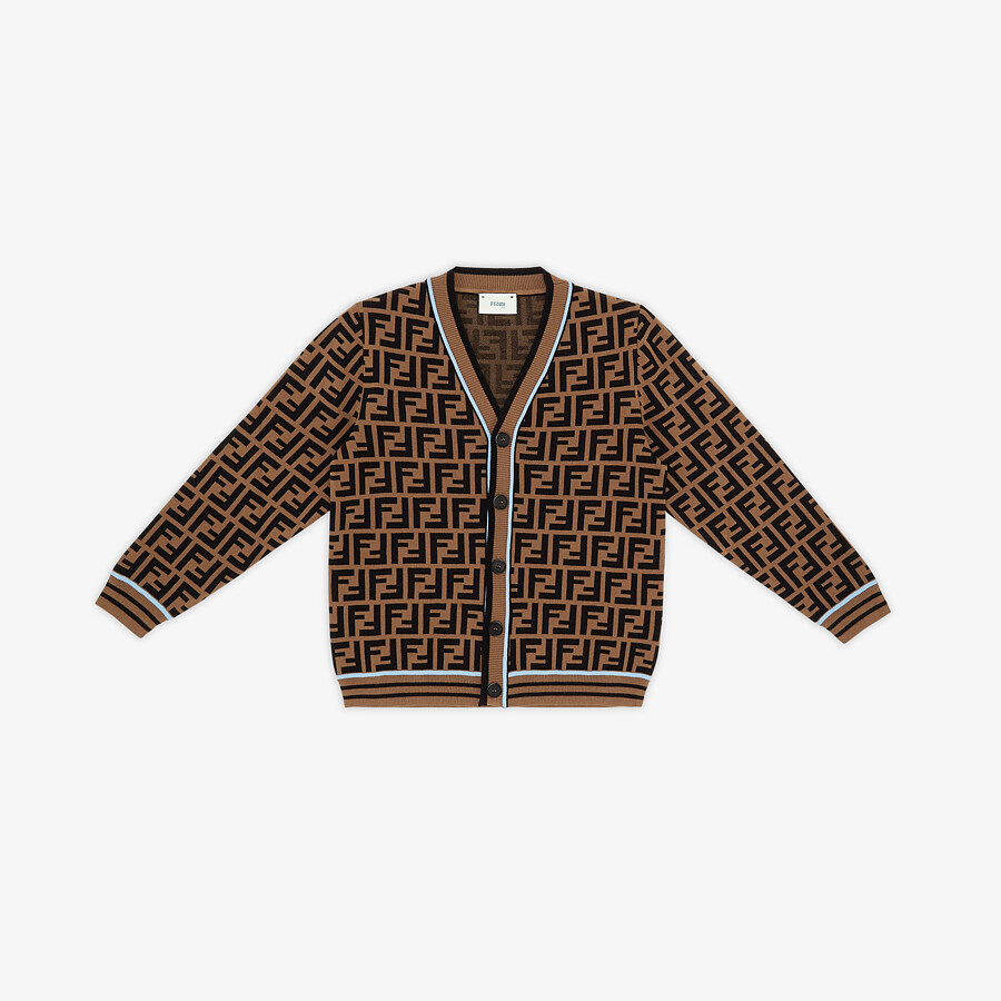 FENDI CARDIGAN - Junior boy knit cardigan - view 1 detail