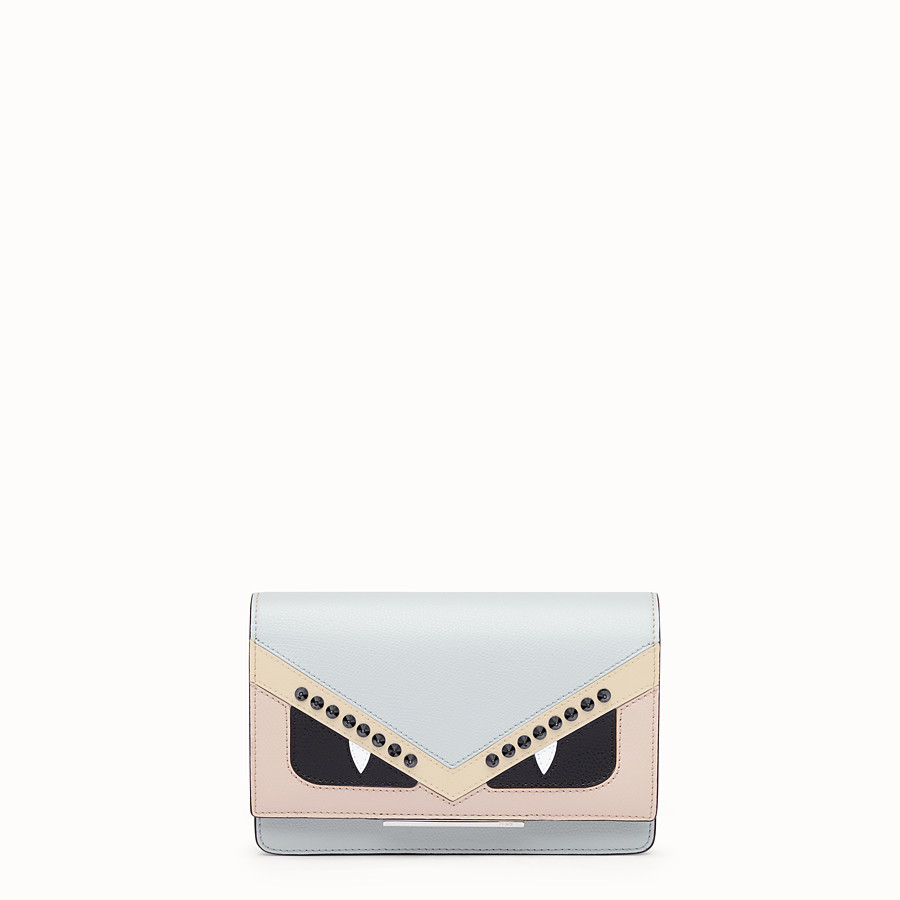 FENDI WALLET ON CHAIN - Grey leather mini-bag - view 1 detail