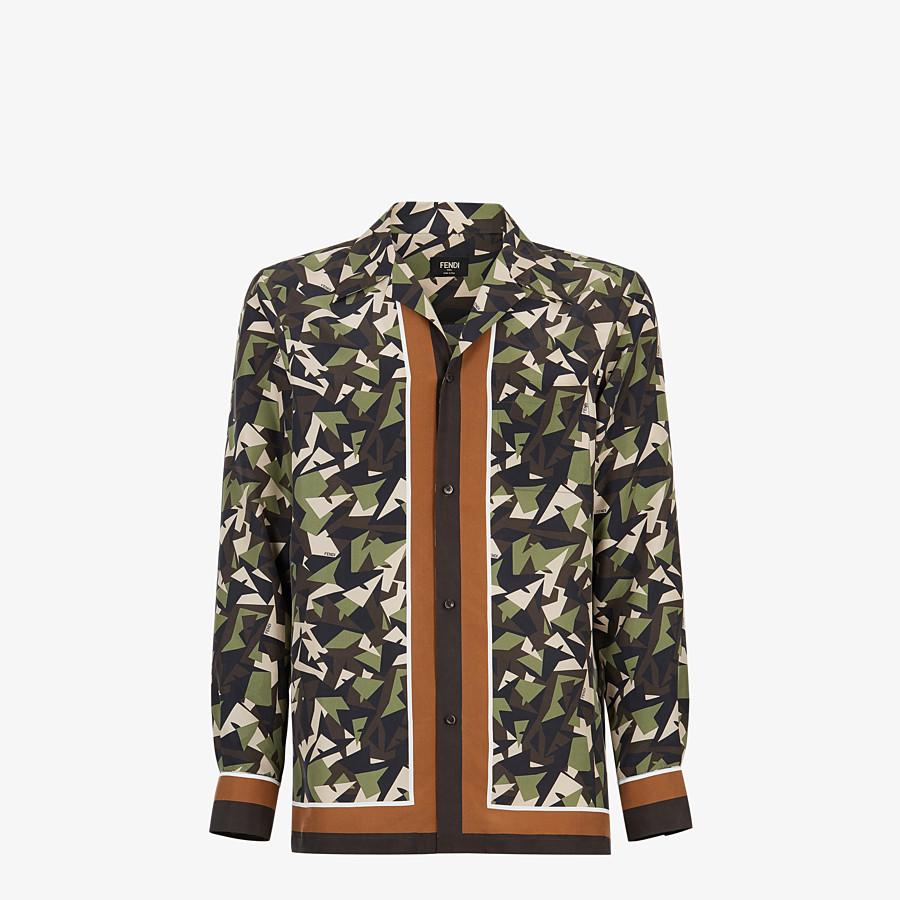 FENDI SHIRT - Multicolor silk shirt - view 1 detail