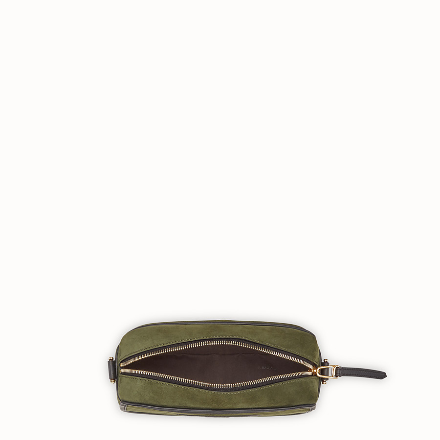 FENDI CAMERA CASE - Green suede bag - view 4 detail