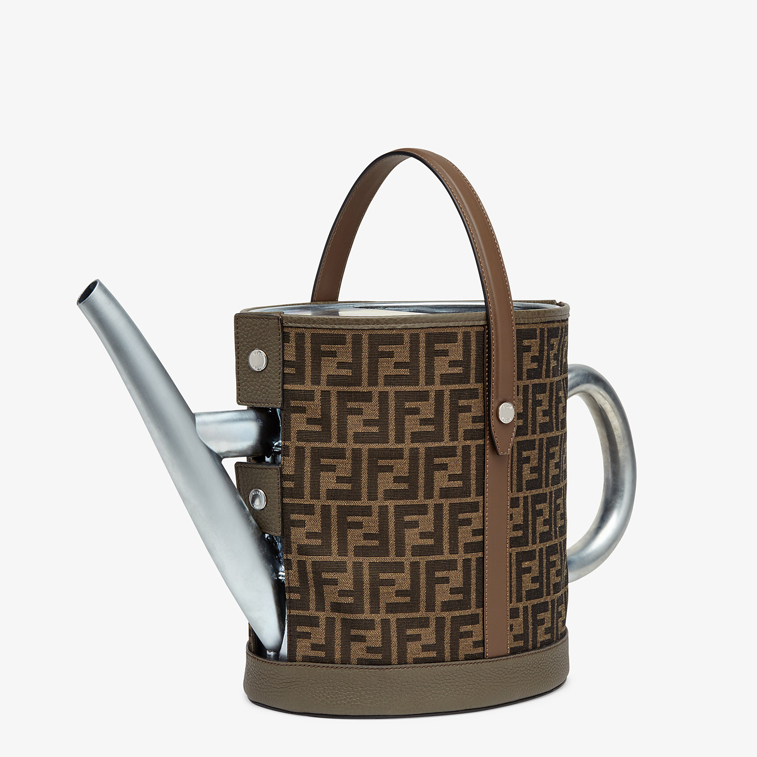 FENDI WATERING CAN - Brown fabric watering can - view 2 detail