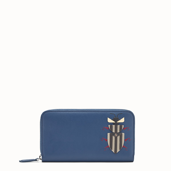 FENDI WALLET - Blue leather wallet - view 1 small thumbnail