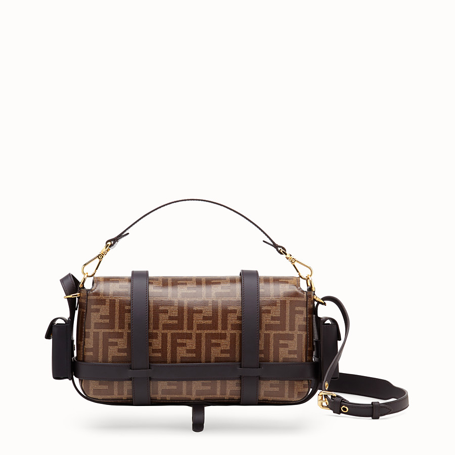 FENDI BAGUETTE WITH CAGE - Brown fabric bag - view 5 detail