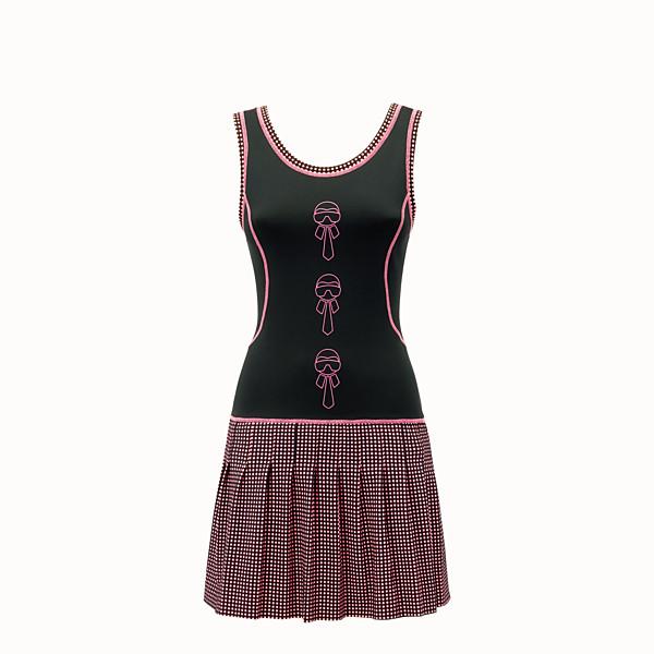 FENDI DRESS - Black and fuchsia tech fabric dress - view 1 small thumbnail