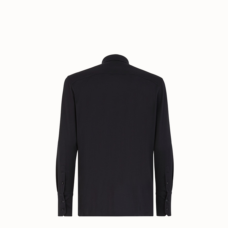 FENDI SHIRT - Black jersey shirt - view 2 detail