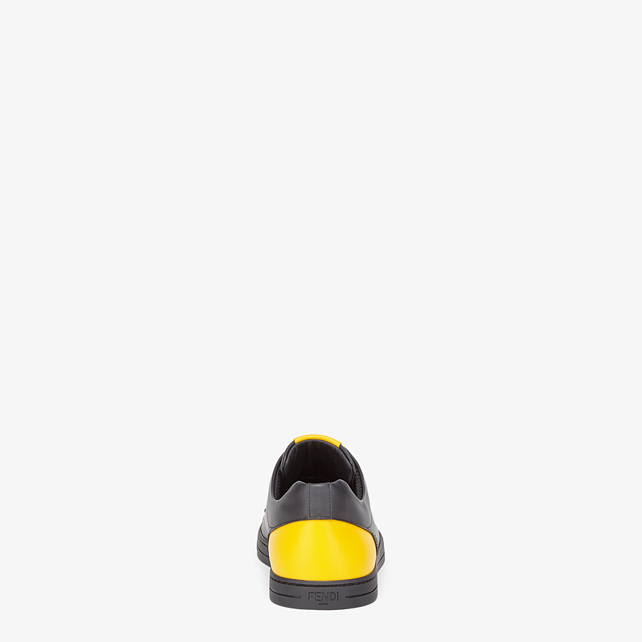 FENDI SNEAKER - Low-Top-Sneaker aus Leder in Schwarz - view 3 detail