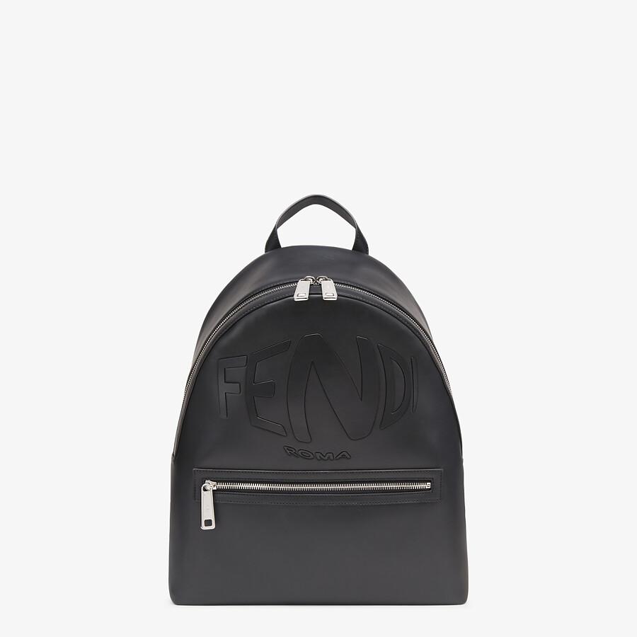 FENDI BACKPACK - Black leather backpack - view 1 detail