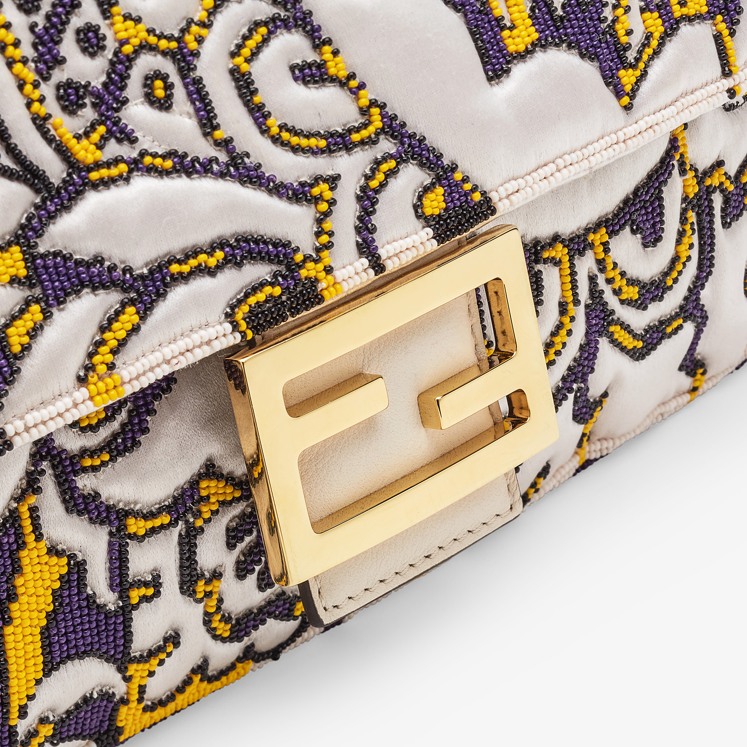 FENDI BAGUETTE - Bag with multicolour embroidery - view 6 detail