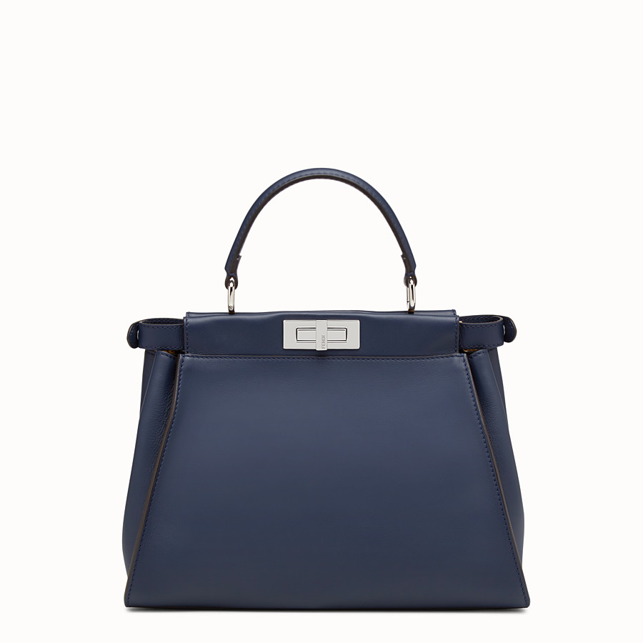 FENDI PEEKABOO REGULAR - Blue leather handbag - view 3 detail